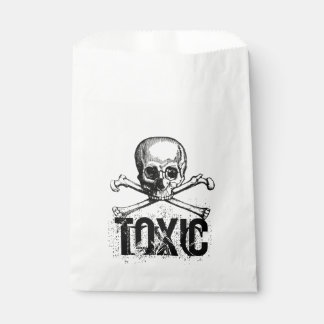 Toxic Skeleton Favor Bag