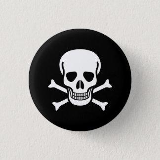Toxic Skull 3 Cm Round Badge