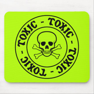Toxic Skull and Crossbones Mousepad
