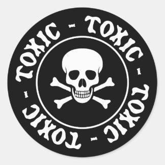 Toxic Skull and Crossbones Sticker