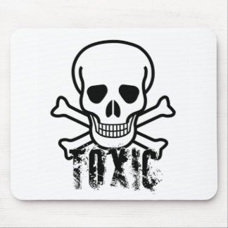 Toxic skull mouse pad