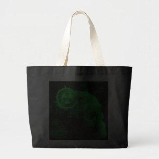 toxic skull jumbo tote bag