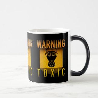 Toxic Warning Gas Mask Retro Atomic Age Grunge : Magic Mug
