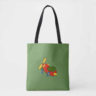 Toy Airplane Tote Bag