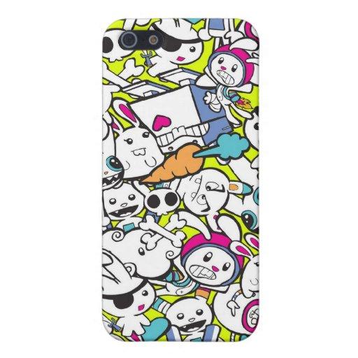 toy_art_bunny_stamp_II_by_mariliawonka iPhone 5 Case