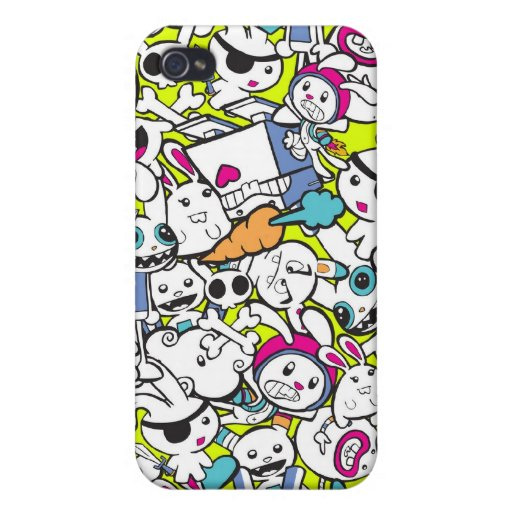 toy_art_bunny_stamp_II_by_mariliawonka iPhone 4/4S Covers
