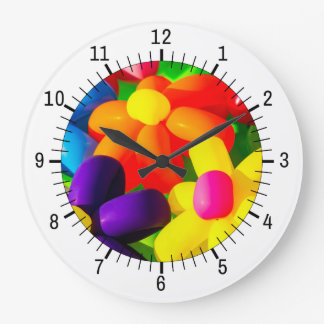 Toy Balloon Flowers Wall Clock