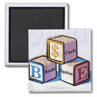 Toy Blocks Fridge Magnet