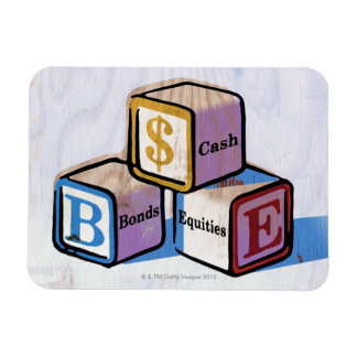 Toy Blocks Vinyl Magnet