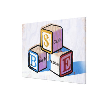 Toy Blocks Stretched Canvas Prints