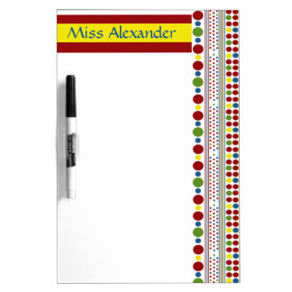 Toy Box Polka Dots Personalized Dry Erase Board
