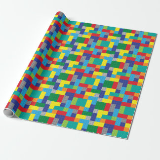Toy Bricks Building Blocks Wrapping Paper