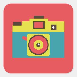 Toy Camera (CMYK) Square Sticker