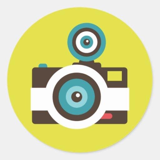 Toy Camera (Fisheye) Round Sticker