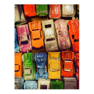 Toy Car Junkyard Postcard