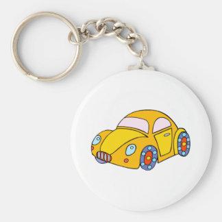 Toy Car Basic Round Button Key Ring