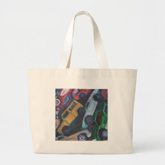 Toy Car Painting Canvas Bag