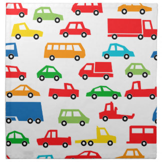 toy car pattern - automobile illustration napkin