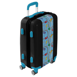 Toy Car Track Luggage Suitcase