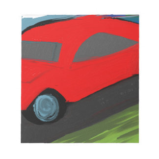 toy carro ride notepad