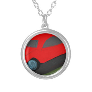 toy carro ride silver plated necklace
