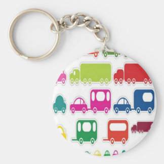 Toy cars and bus design keychain