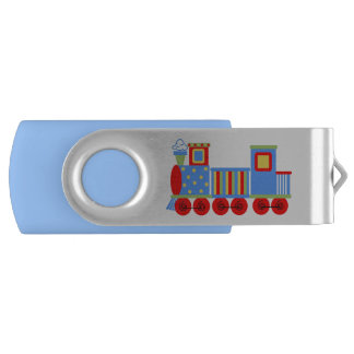 Toy Choo Choo Train Custom Swivel USB Drive