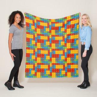 Toy Construction Building Blocks Pattern Fleece Blanket