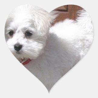 Toy Dogs Heart Sticker