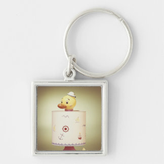 Toy duck lamp key chains