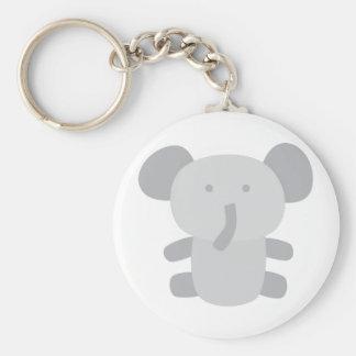 Toy Elephant Basic Round Button Key Ring