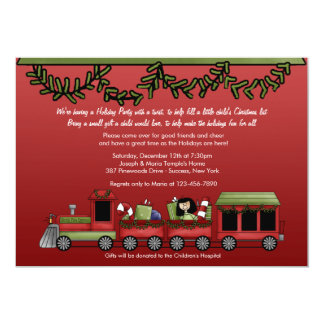 Toy Express Holiday Party Card