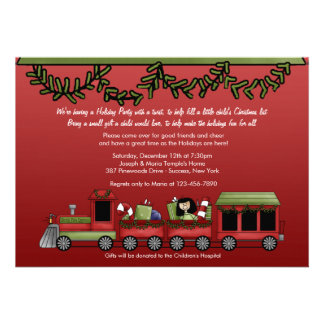 Toy Express Holiday Party Personalized Invite