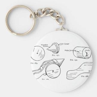 Toy Firework Schematic Key Ring