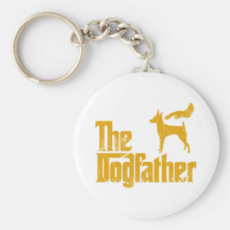 Toy Fox Terrier Basic Round Button Key Ring