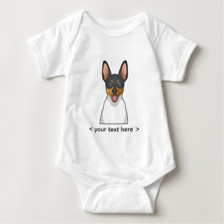 Toy Fox Terrier Cartoon Personalized Baby Bodysuit