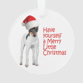 Toy Fox Terrier Christmas Ornament
