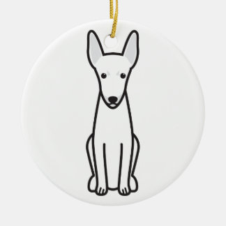 Toy Fox Terrier Dog Cartoon Ceramic Ornament