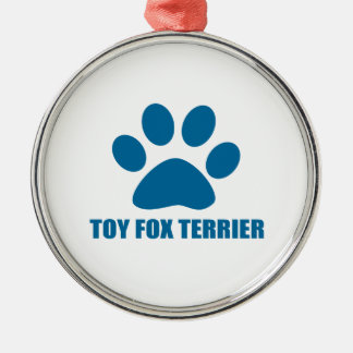 TOY FOX TERRIER DOG DESIGNS METAL ORNAMENT