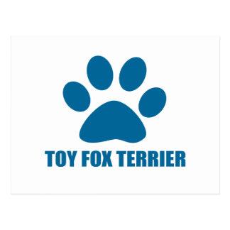 TOY FOX TERRIER DOG DESIGNS POSTCARD