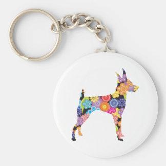 Toy Fox Terrier Keychains
