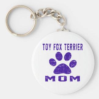Toy Fox Terrier Mom Gifts Designs Keychain