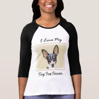 Toy Fox Terrier Painting - Cute Original Dog Art T-Shirt