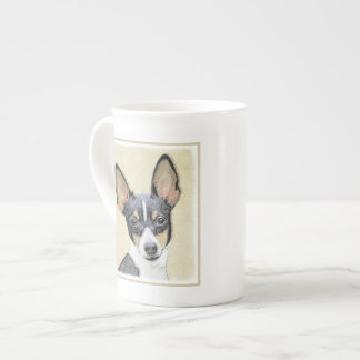 Toy Fox Terrier Painting - Cute Original Dog Art Tea Cup
