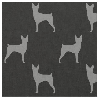 Toy Fox Terrier Silhouettes Pattern Fabric