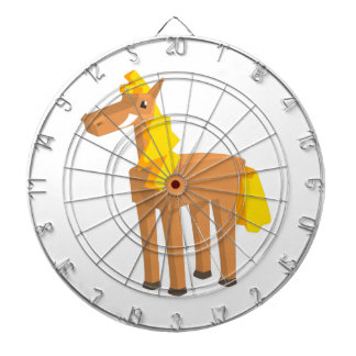 Toy Horse Drawing Isolated On White Background. Dartboard