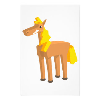Toy Horse Drawing Isolated On White Background. Stationery
