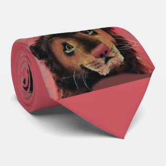 toy lion head print tie