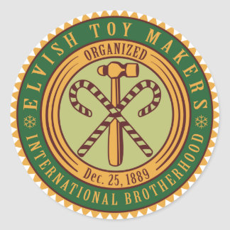 Toy Makers Union Round Sticker