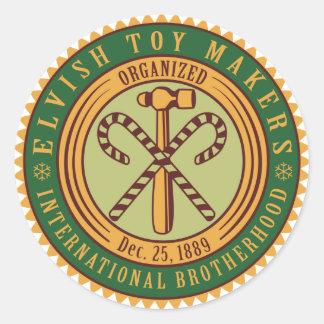 Toy Makers Union Round Sticker